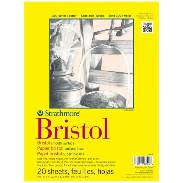 Strathmore 300 Bristol Pads 11x14; in smooth or vellum - more sizes available