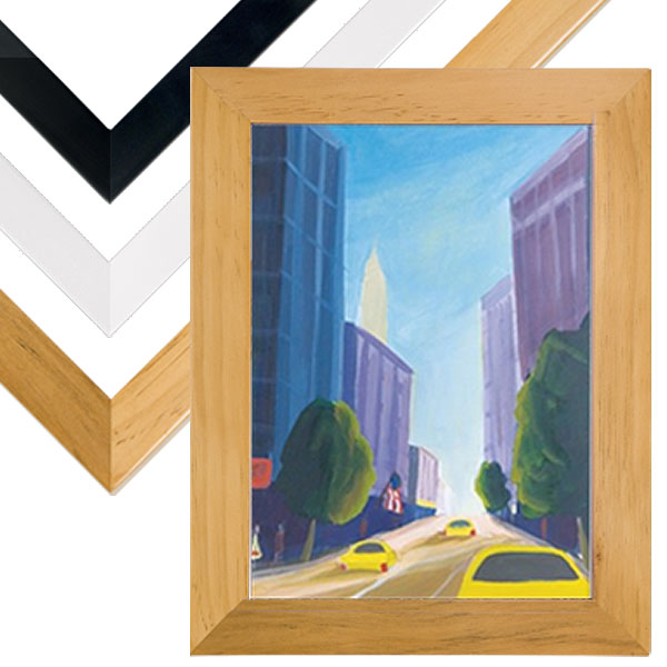 Ambiance Gallery Wood Frames 16x20; choose black, white, or natural - more sizes available
