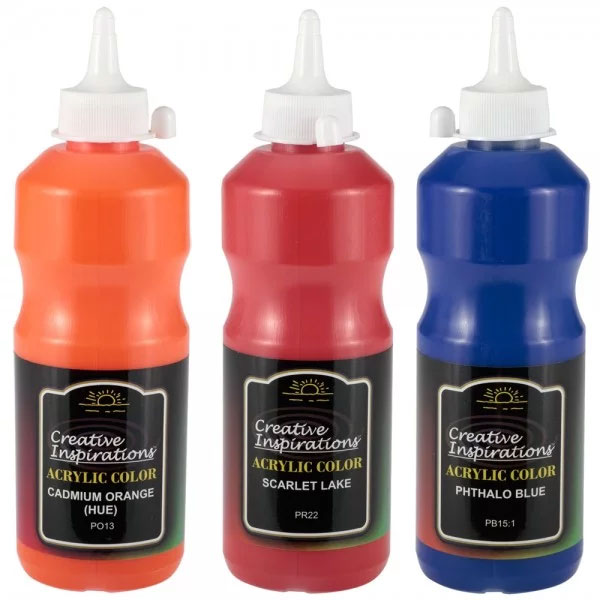 Creative Inspirations Acrylics 500ml; over 40 colors - more sizes available