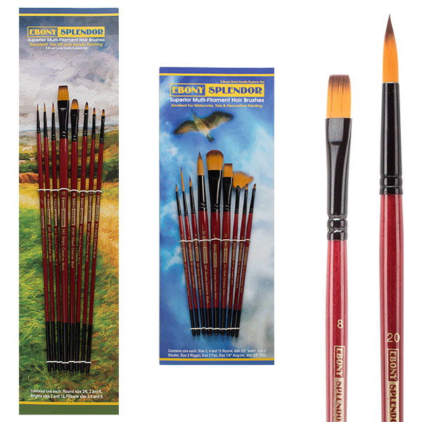 Ebony Splendor Explorer Brush Sets; Short- or Long-Handled