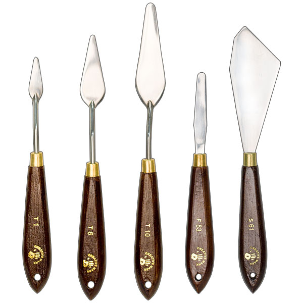 Painters' Edge Painting Knives Sets of 5; choose from 2 sets